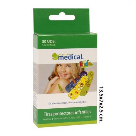 TIRAS PROTECTORAS INFANTIL SURTIDAS, MEDICAL CENTER, 30UDS. - Imagen 1