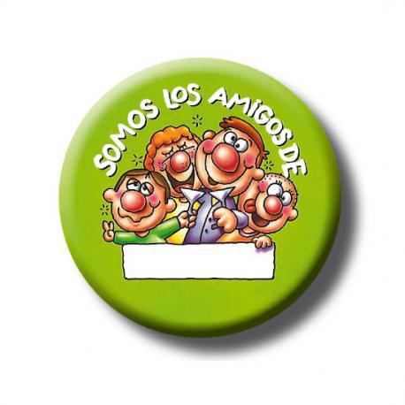 CHAPA SOMOS LOS AMIGOS PERSONALIZABLE VERDE - Imagen 1