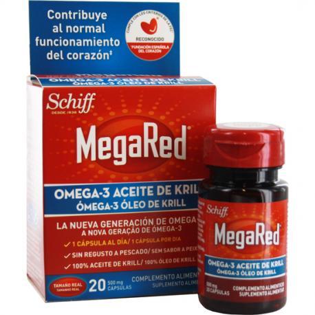 MEGARED OMEGA 3 ACEITE DE KRIL 20 CAPSULAS - Imagen 1