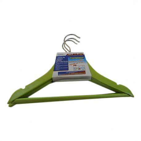 Comprar set de 3 perchas verdes para ni os online - Perchas para ninos ...