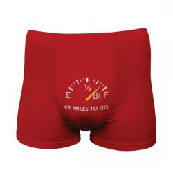 FUNNY BOXERS 45 MILES TO GO ROJO
