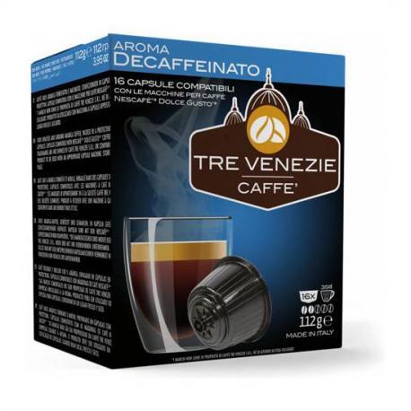 TRE VENEZIE CAFFE - AROMA DESCAFFEINATO 16 CÁPSULAS - Imagen 1