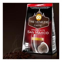 TRE VENEZIE CAFFE - ARABICA DI SAN MARCO 10 CÁPSULAS