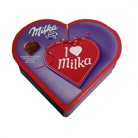 I LOVE MILKA  8 BOMBONES, 50 GR - Imagen 1