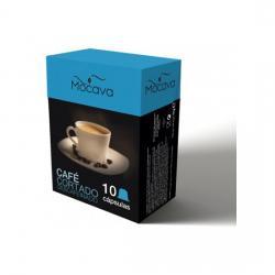 MOCAVA CAFE CORTADO DESCAFEINADO 10 CAPSULAS