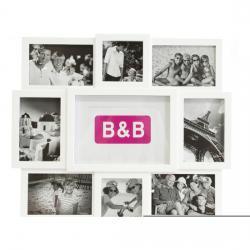 PORTAFOTOS BLANCO B&B CAPACIDAD PARA 9 FOTOS