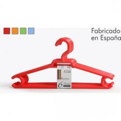 SET 6 PERCHAS PLÁSTICO 42x21cm RAINBOW - COLORES SURTIDOS - Imagen 1