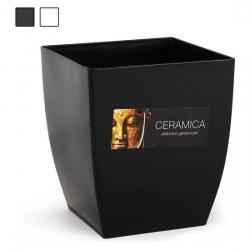 CUBRE MACETA CUADRADA 15x15x17cm CERAMICA - Imagen 1
