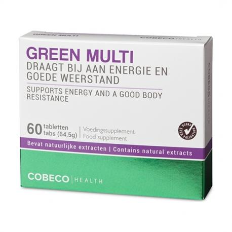 COBECO GREEN MULTI VITAMIN 60 TAB FLATPACK (EN, NL) - Imagen 1