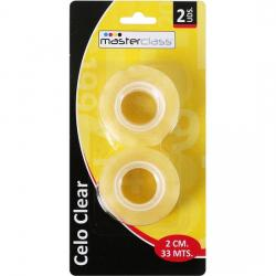SET 2 CELOS CLEAR BLISTER 33M X 2CM