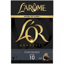FORTISSIMO LAROME 10 CÁPSULAS DE CAFÉ ESPRESSO, INTENSIDAD 10 - Imagen 1