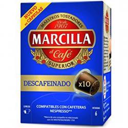 DESCAFEINADO MARCILLA SUPERIOR, 10 CÁPSULAS COMPATIBLES NESPRESSO - Imagen 1