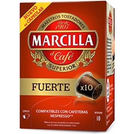 FUERTE MARCILLA SUPERIOR, 10 CÁPSULAS COMPATIBLES NESPRESSO - Imagen 1