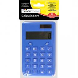CALCULADORA 8 DÍGITOS - COLOR AZUL