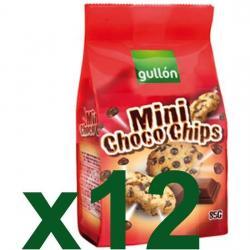 GALLETAS GULLÓN MINI CHOCO-CHIPS CHOCOLATE CAJA 12 x 85 gr