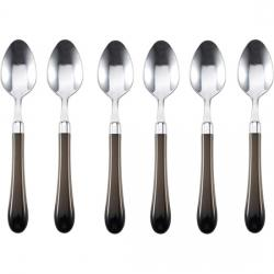 SET DE 6 CUCHARILLAS ACERO INOXIDABLE GRIS