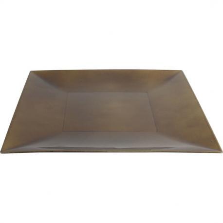 PLATO PVC ORO VIEJO VINTAGE 30x30cm - Imagen 1