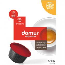 DOMUS FORTISSIMO - 16 CÁPSULAS COMPATIBLES DOLCE GUSTO - Imagen 1