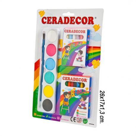 Tizas con Acuarelas y Lapices, CERADECOR - Imagen 1