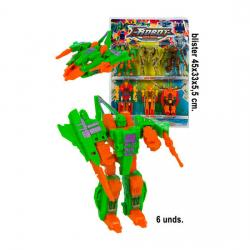 Blister Transformer Robots - 6 piezas, WAT - Imagen 1