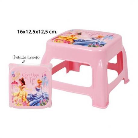 Taburete Infantil Metalizado, DISNEY, -PRINCESS-, 16x12,5x12,5cm. - Imagen 1