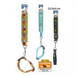 Correa para Perro con Collar Ajustable Modelos Surtidos, MCT MASCOTAS, 22,5x4cm. - Imagen 1