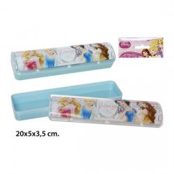 Plumier Escolar, DISNEY, -PRINCESS-, 20x5x3,5cm.