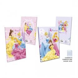 Cuaderno Cuadricula 4mm 48 Hojas 90 Gramos, DISNEY, -PRINCESS-, A4
