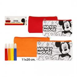 Portatodo Plano Colores 4 Rotuladores, DISNEY, -MICKEY-